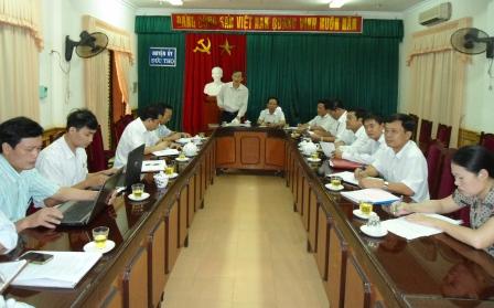 Đoàn công tác tỉnh uỷ kiểm tra công tác lãnh đạo, chỉ đạo trong xây dựng nông thôn mới tại huyện Đức Thọ